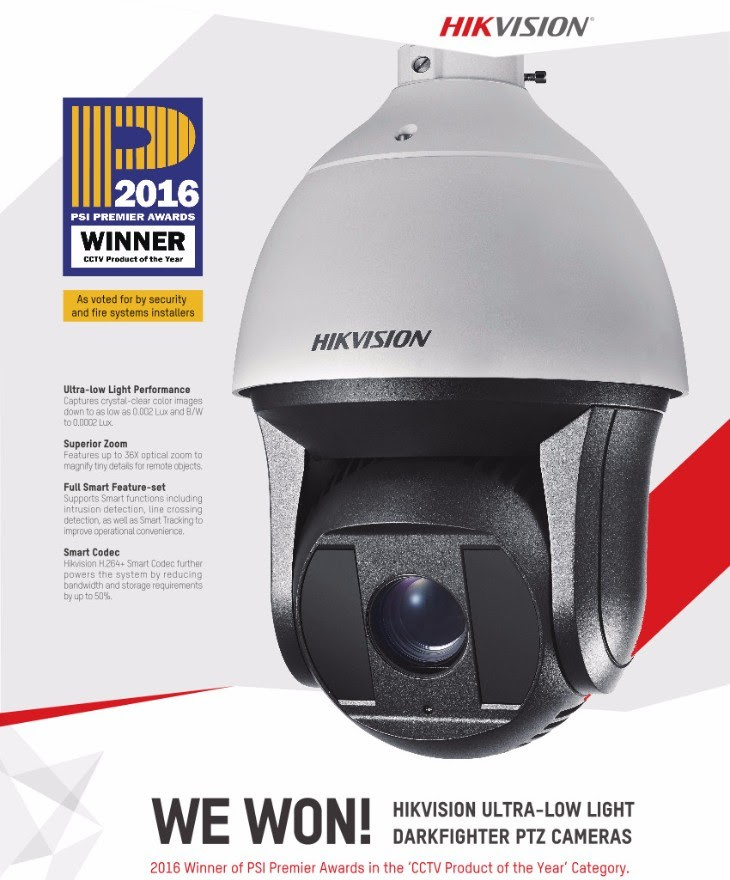 Hikvision Wins CCTV Product of the Year