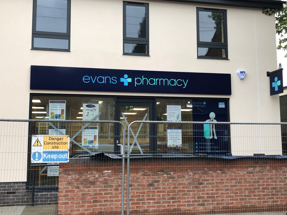 Evans Pharmacy Ruddington gets APS Security & Fire expertise